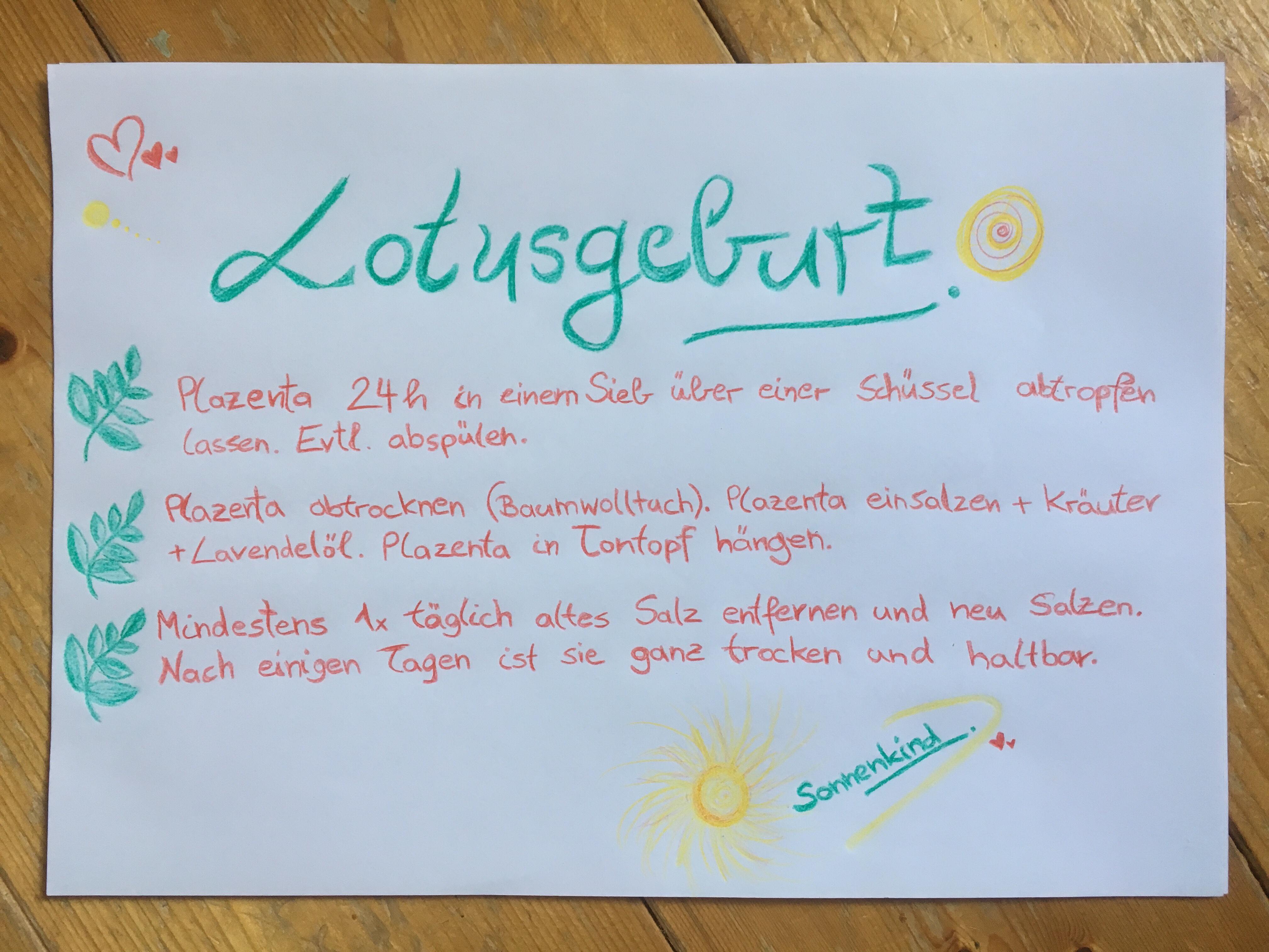 Lotusgeburt, lotusbirth, Erfahrungsbericht, Erfahrungen, Sonnenkind, Geburt, natürlich gebären, selbstbestimmte Geburt, greenlygreen, greenlygreeen